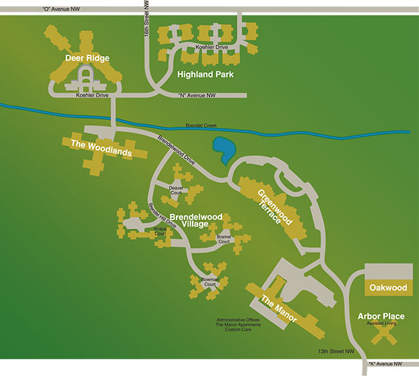 About Us Meth-Wick Campus Map