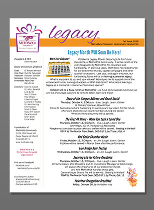 Resources Legacy Newsletter